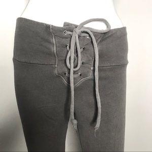 Wildfox Fifi Gray Lace Up Skinny Sweatpants XS